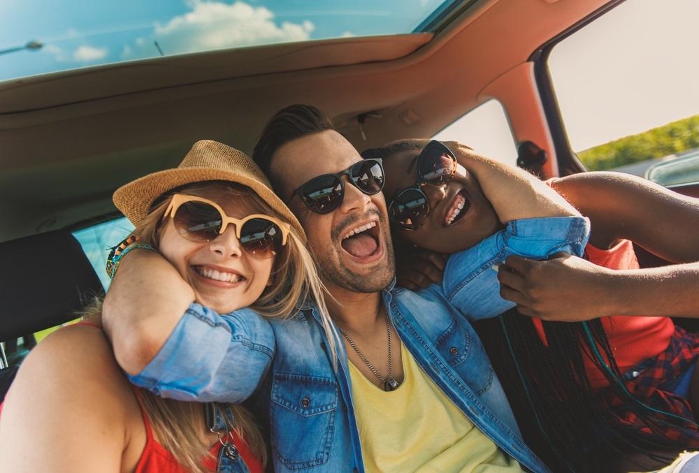 Auto op vakantie gezelligheid