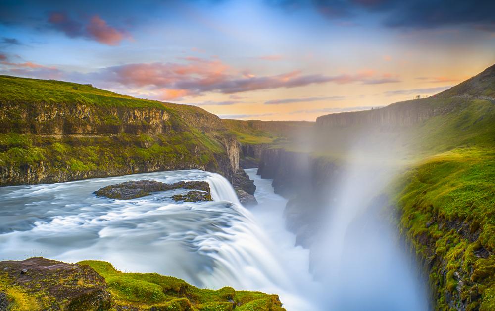 Gullfoss de gouden waterval IJsland